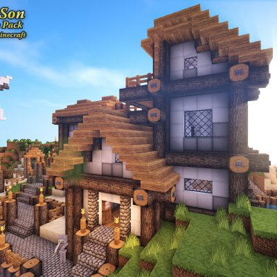 Southern Isle Dawn<br>Sensei & Son HD128 Minecraft Texture Pack