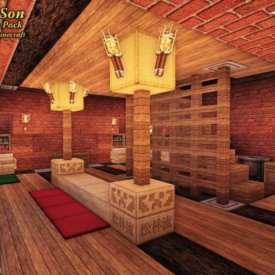 Temple Loft<br>Sensei & Son HD128 Minecraft Texture Pack