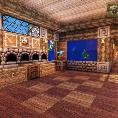 Tropical Interior<br>Sensei & Son HD128 Minecraft Texture Pack