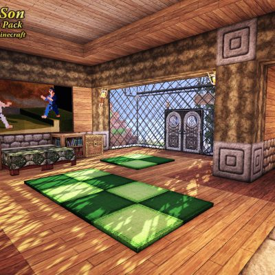 Tropical Isle Suite<br>Sensei & Son HD128 Minecraft Texture Pack