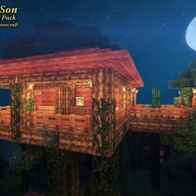 Tropical Treehouse<br>Sensei & Son HD128 Minecraft Texture Pack