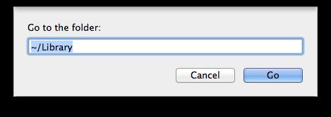Mac OS X Go to Library Folder