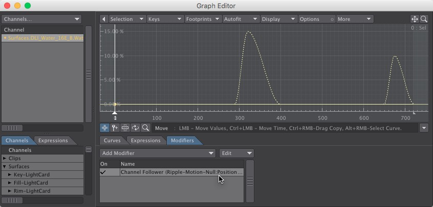 Water Ripple Motion Null Graph Editor