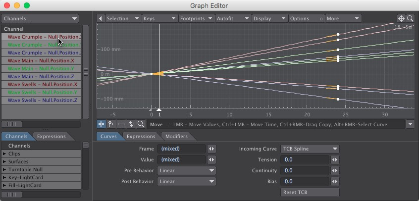 Wave Motion Nulls Graph Editor