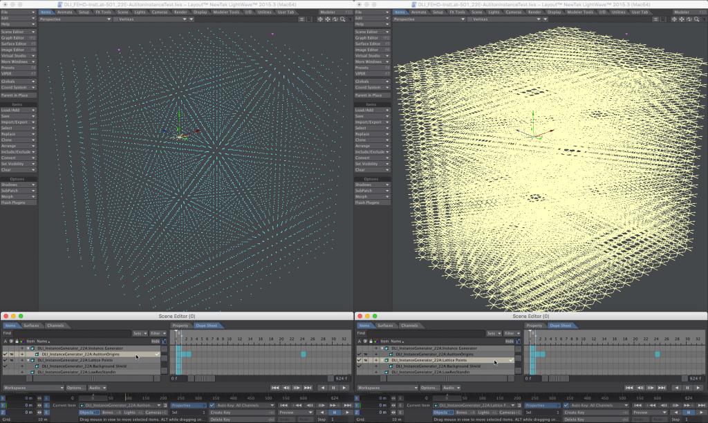LightWave 3D Nested Instancing - Instance Generator Cube Points + Instances