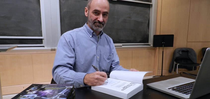 The author, Michael Scaramozzino, at a book signing following a lecture for the MIT Animation Group.