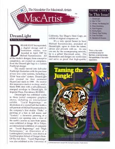 MacArtist - The Newsletter for Macintosh Artists