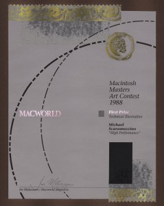 MacWorld Macintosh Masters Art Contest 1988 - First Prize - Technical Illustration