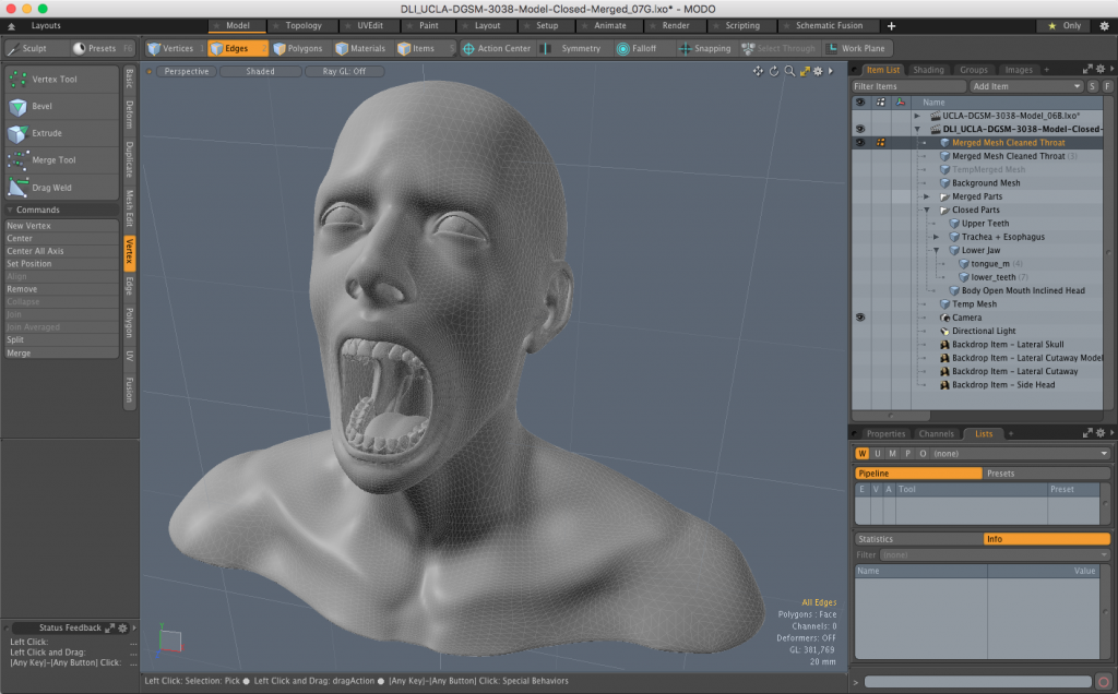 The Final Merged and Cleaned 3D Model Ready for STL Export for 3D Printing Software