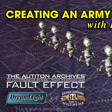 LightWave 3D Nested Instancing – Creating an Army of 800K Marching Robots
