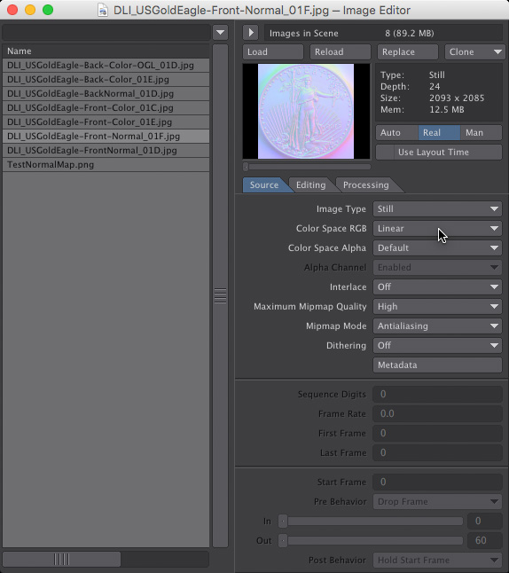 Normal Map Image Loaded into LightWave 3D- How to Create Normal Maps from Photographs
