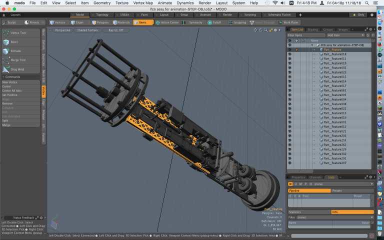 Solidworks OBJ Format File Opened in Modo - How to Import Solidworks Files into Modo