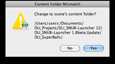 DLI_SNUB-Launcher Content Folder Mismatch Dialog