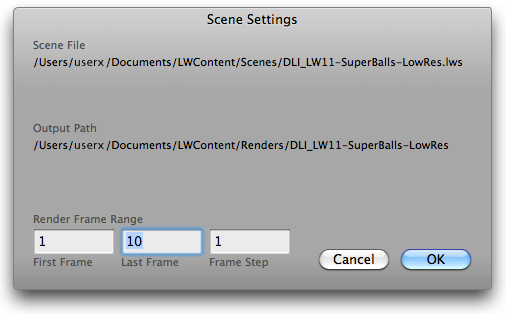 DLI_SNUB-Launcher Scene Settings Window