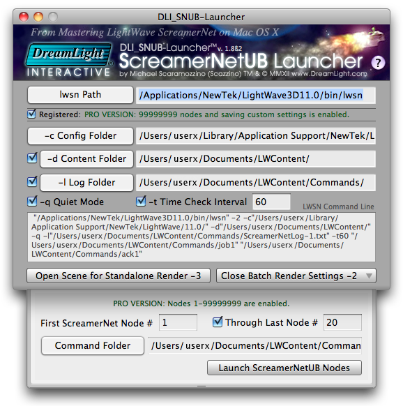GUI Interface - DLI_SNUB-Launcher Screenshot