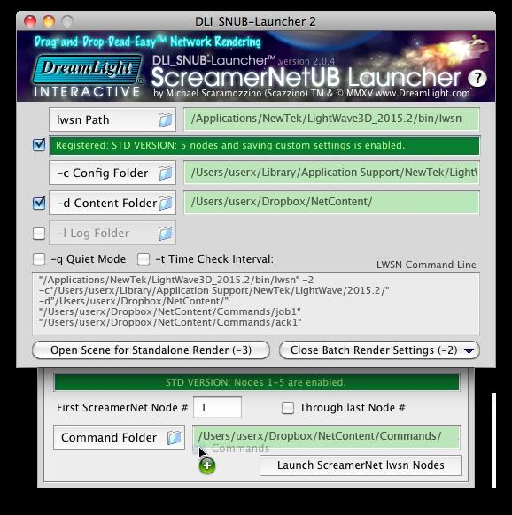 Setting the Network Render Settings - Mac