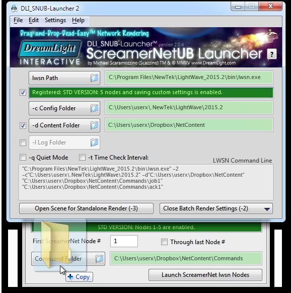Setting the Network Render Settings - Windows