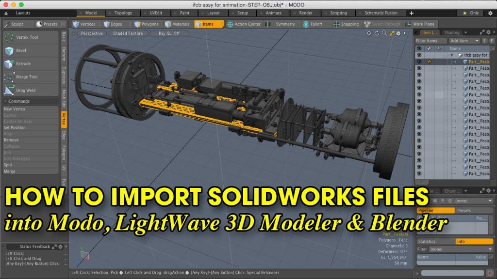 How to Import Solidworks Files into Modo, LightWave 3D Modeler & Blender