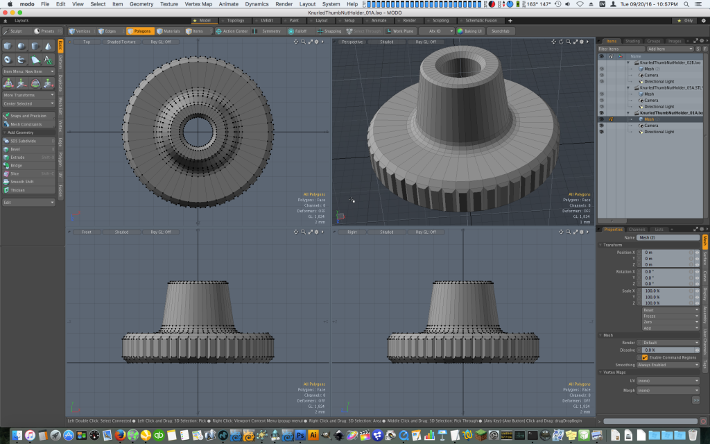 Designing a Custom Thumb Nut for 3D Printing