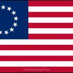 13 Star Betsy Ross Flag - Vector