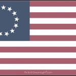 13 Star Betsy Ross Flag - Faded