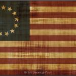 13 Star Betsy Ross Flag - Aged
