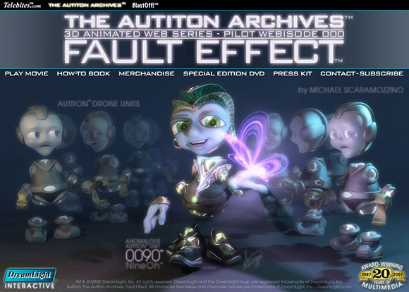 The Autiton Archives™ 3D Animated Web Series Web Site