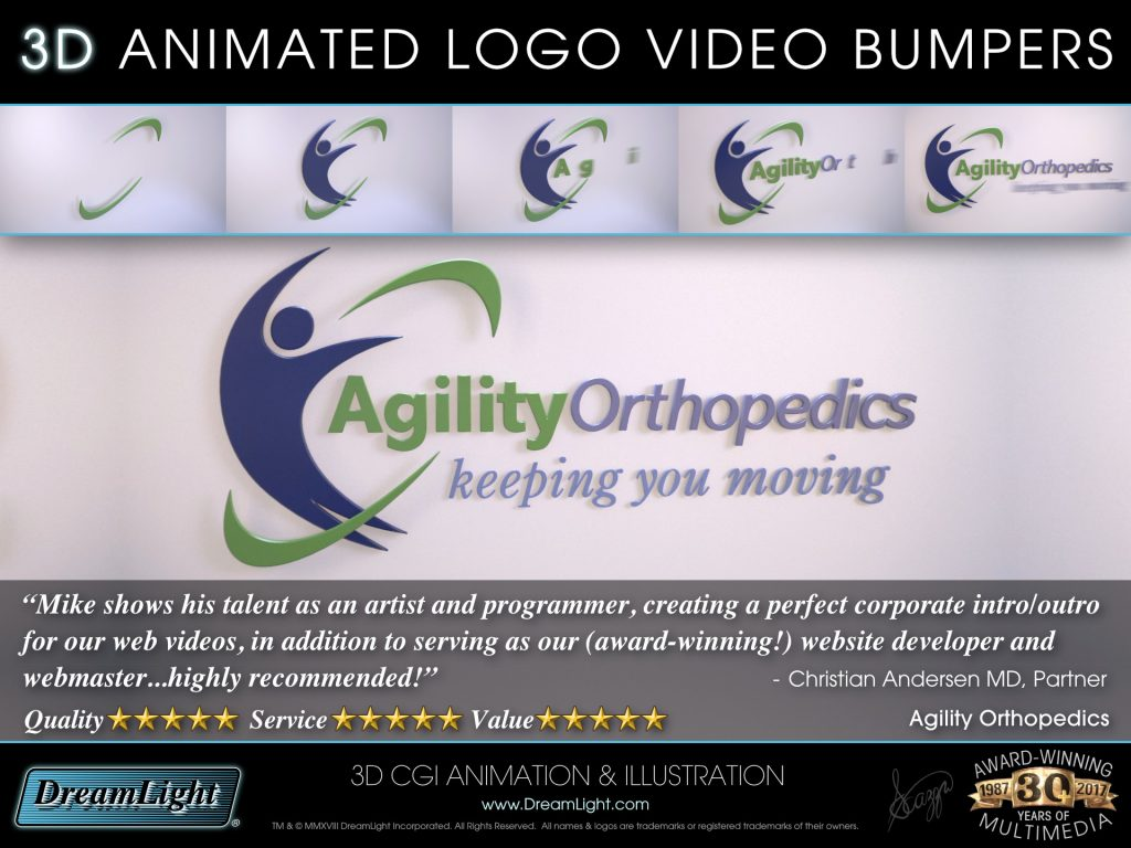 3D Animated Logo Intro Video Bumper