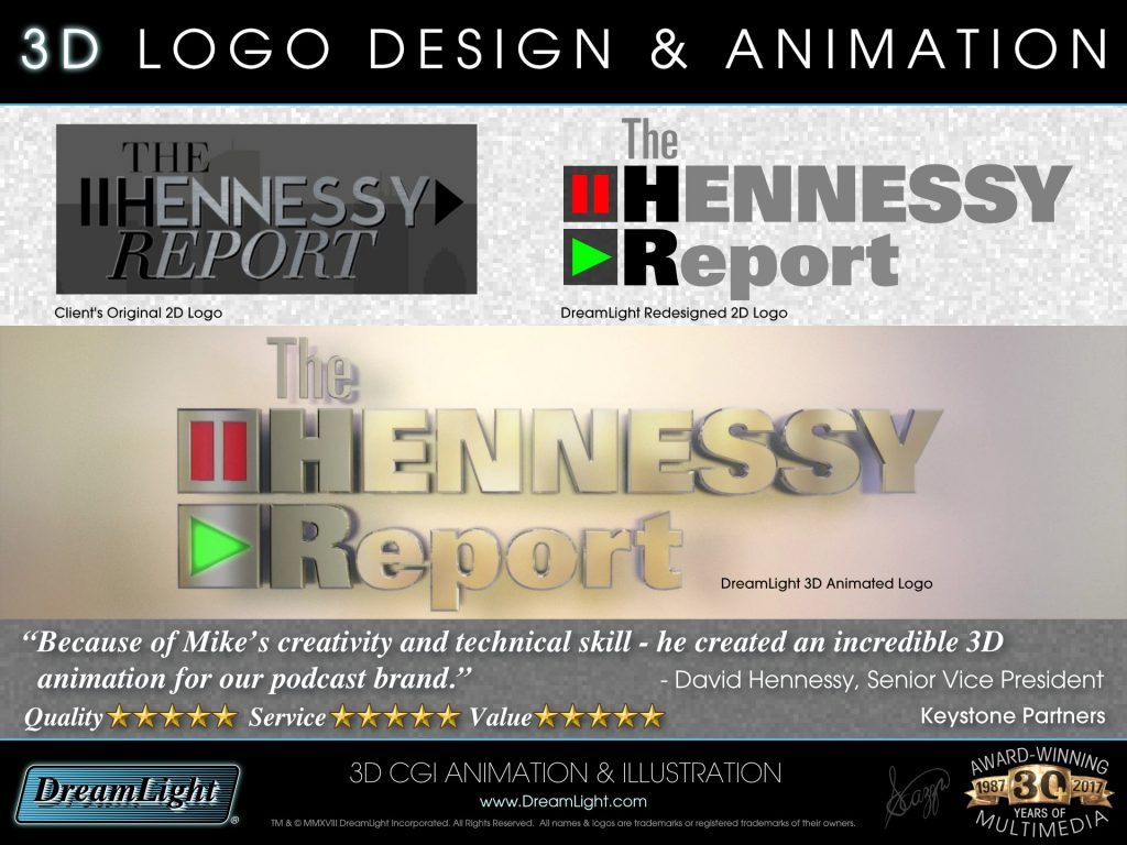 2D Logo Design and 3D Logo Animation