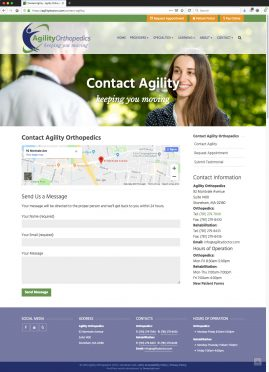 New Wordpress Website Contact Form Content