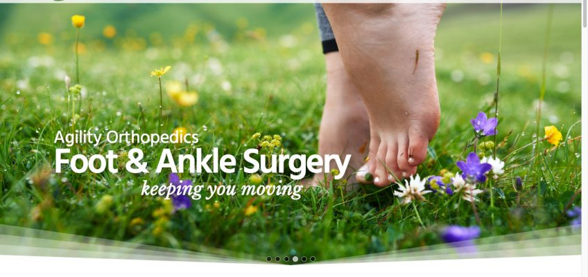 Animated Parallax Slider for New WordPress Website for Growing Medical Clinic - Foot & Ankle Surgery