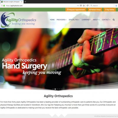 Animated Parallax Slider for New WordPress Website for Growing Medical Clinic - Hand Surgery