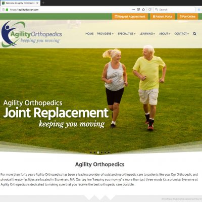 Animated Parallax Slider for New WordPress Website for Growing Medical Clinic - Joint Replacement