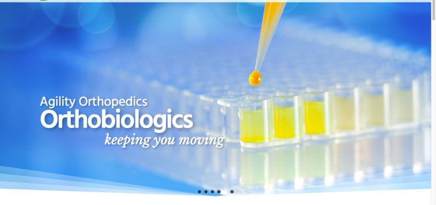 Animated Parallax Slider for New WordPress Website for Growing Medical Clinic - Orthobiologics