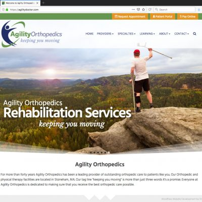 Animated Parallax Slider for New WordPress Website for Growing Medical Clinic - Rehabilitation Services
