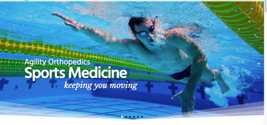 Animated Parallax Slider for New WordPress Website for Growing Medical Clinic - Sports Medicine