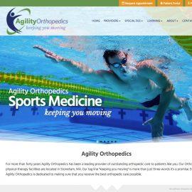 New Wordpress Website Home Screen as seen on Desktop