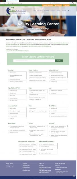 New Wordpress Website Learning Center Knowledgebase Content