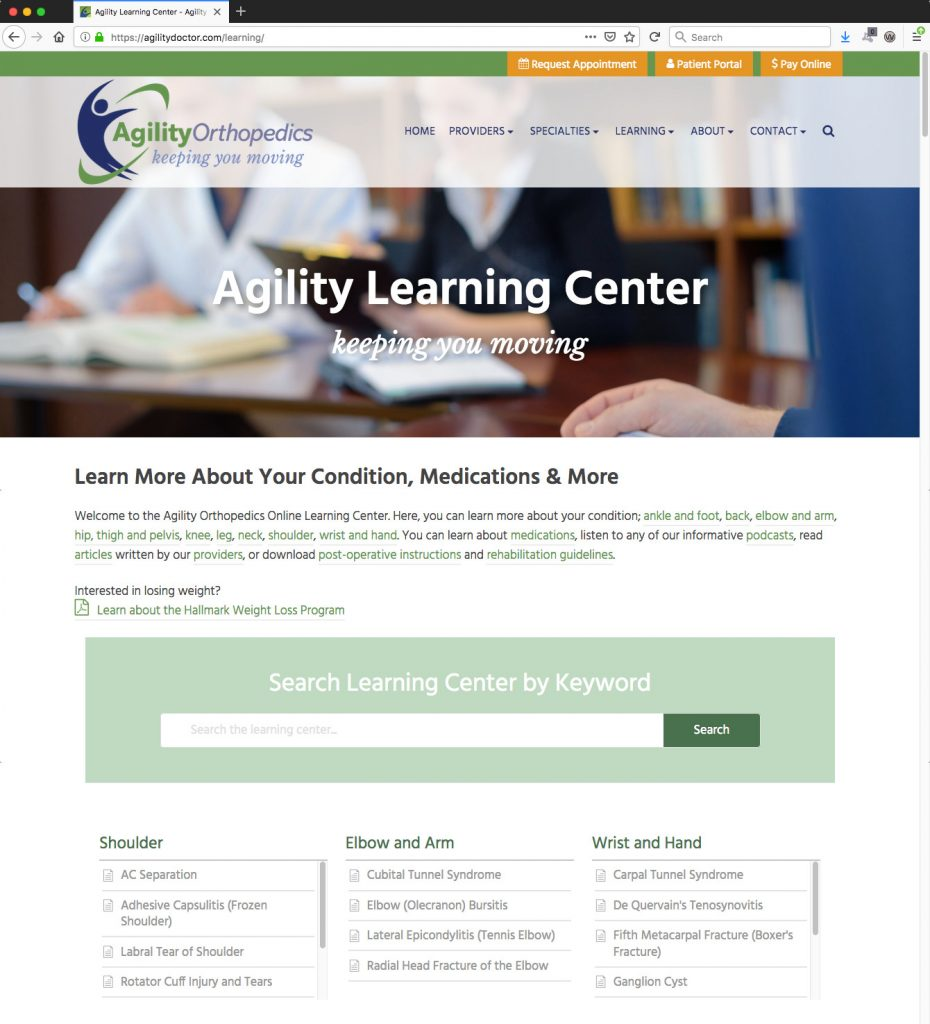 Learning Center with Integrated Knowlegebase for New WordPress Website