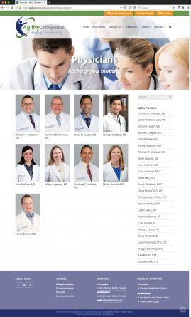 New Wordpress Website Physicians Content