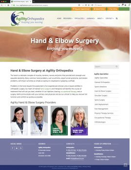New Wordpress Website Hand & Elbow Surgery Content