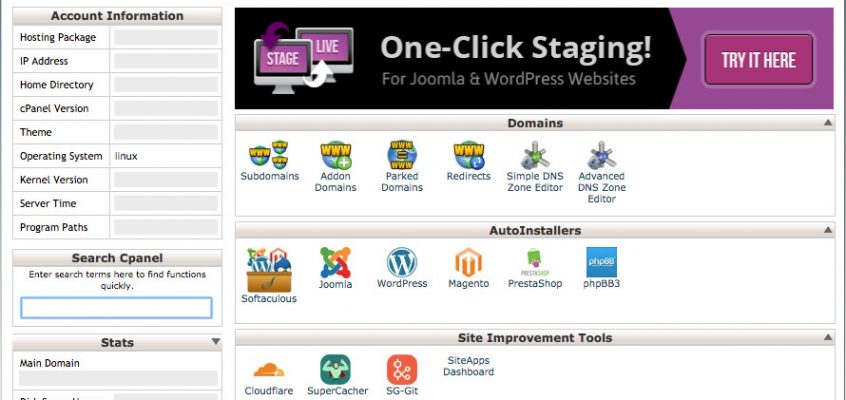 New WordPress Website Hosting, Maintenance and Management - cPanel