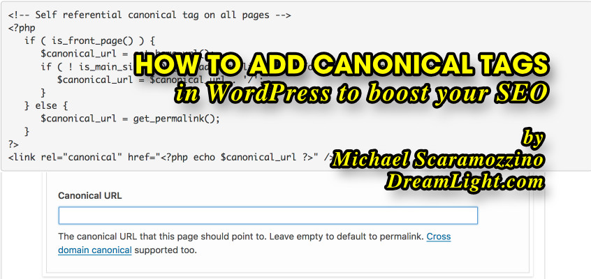 How to Add Canonical Tags in WordPress to boost your SEO by Michael Scaramozzino