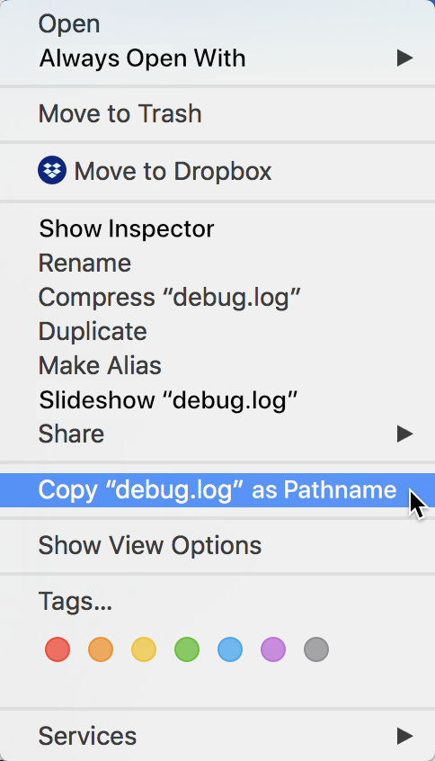 How to Copy File Paths on Mac OS X with Right Click Menu