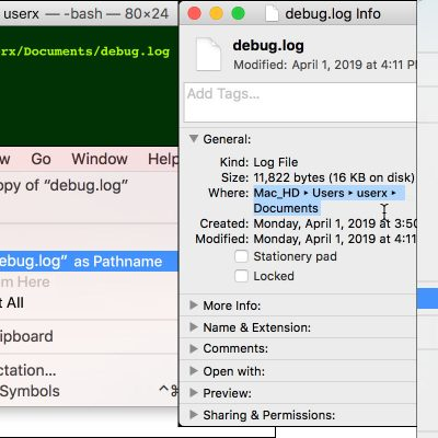 How to Copy File Paths on Mac OS X