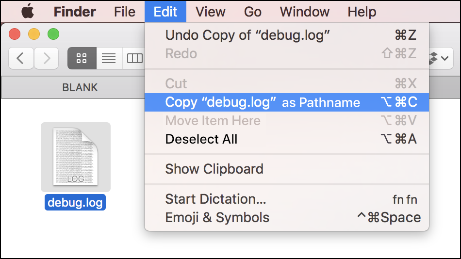 How to Copy File Paths on Mac OS X with Edit Menu
