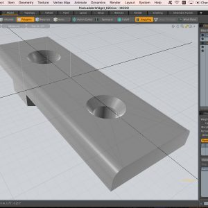 Designing 3D printed replacement parts with beveled edges