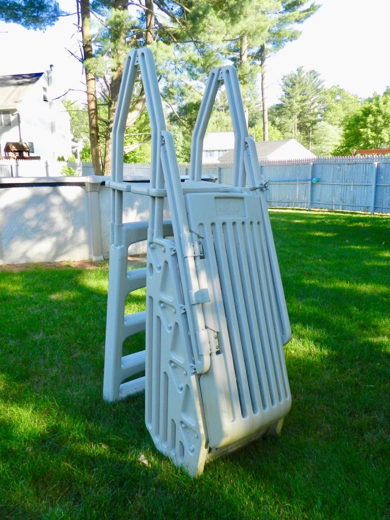 VinylWorks Model CE Combo Step Entry with Gate Pool Ladder