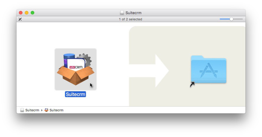 Drag and Drop Install SuiteCRM on Mac OS X