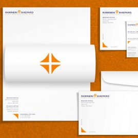 Brand Design with Stationery Set Design